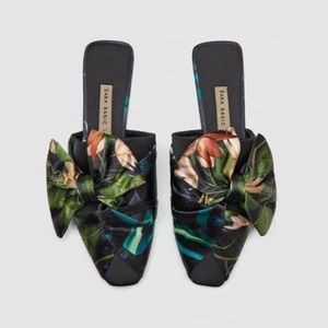 Zara floral mules. Size 6 NWT